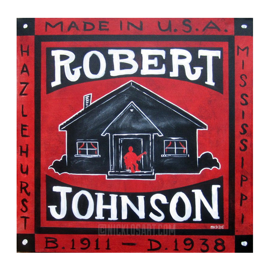 Robert Johnson Memorial Folk Art