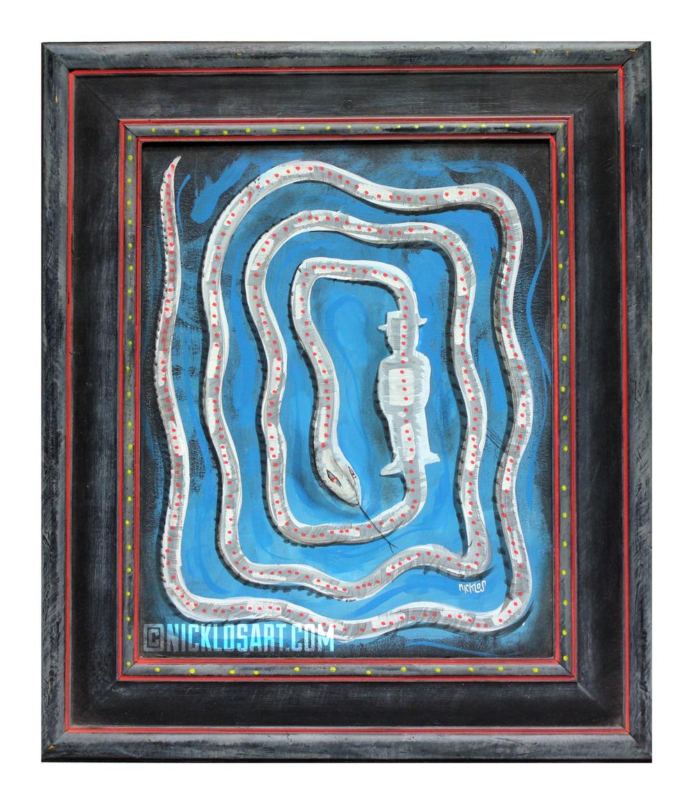 Snake Folk Art