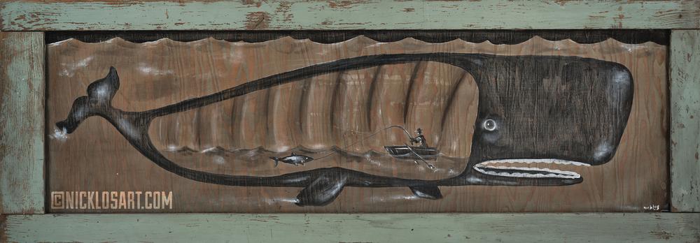 Whale Folk Art