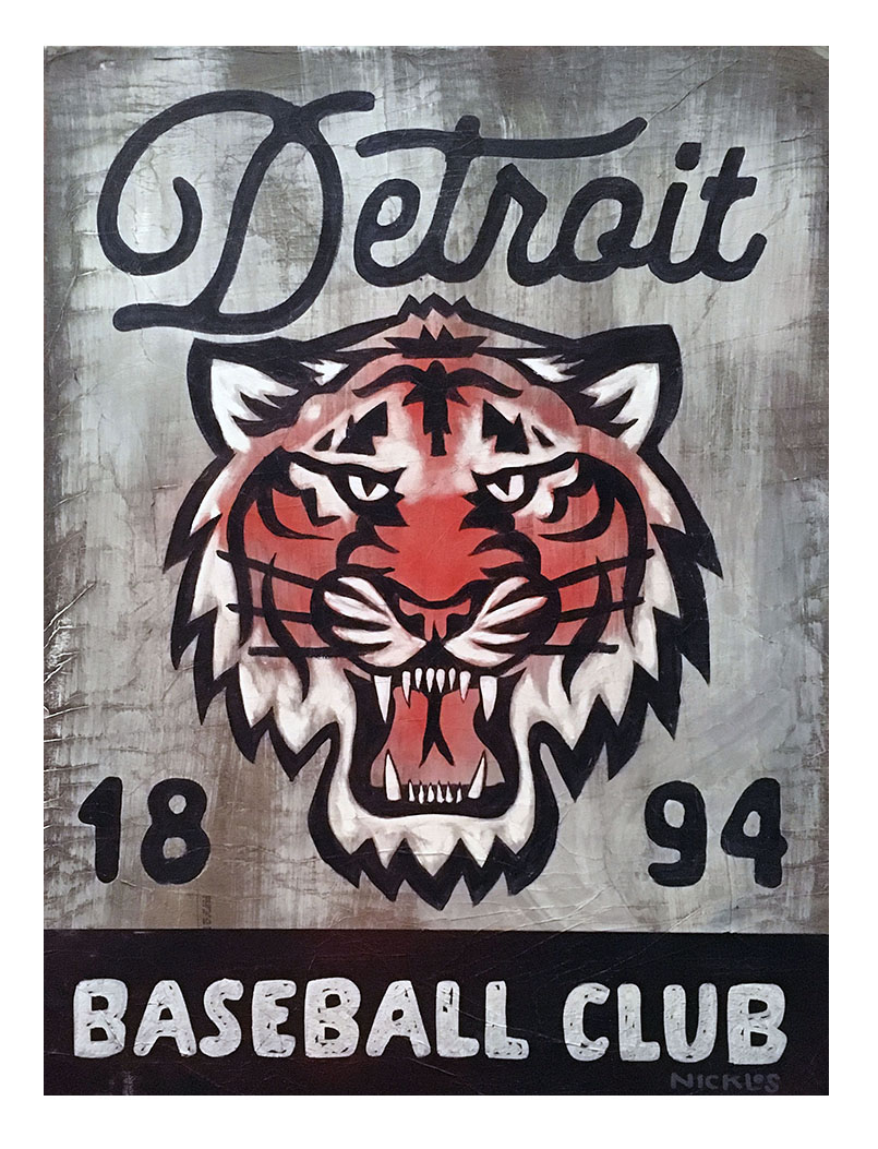 Detroit Tigers Inspired Art