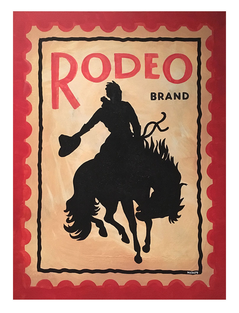 Rodeo Postage Stamp