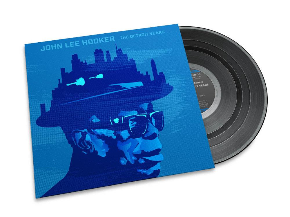 John Lee Hooker album  Conceptual digital album cover art for a John Lee Hooker album sleeve.
