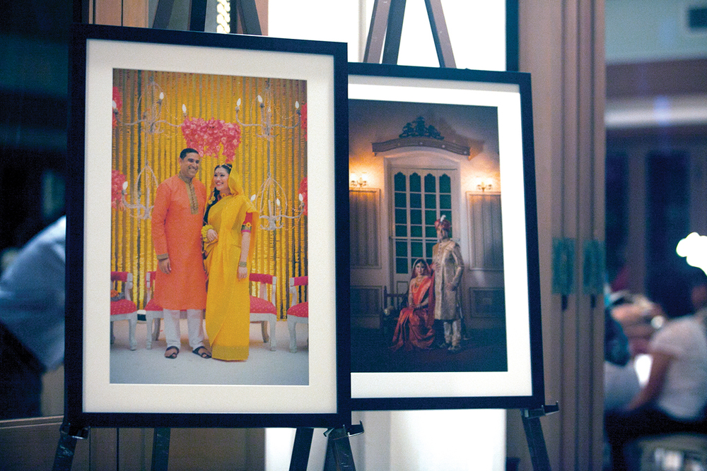 Portraits of the couple taken at the Dhaka ceremony in Bangladesh