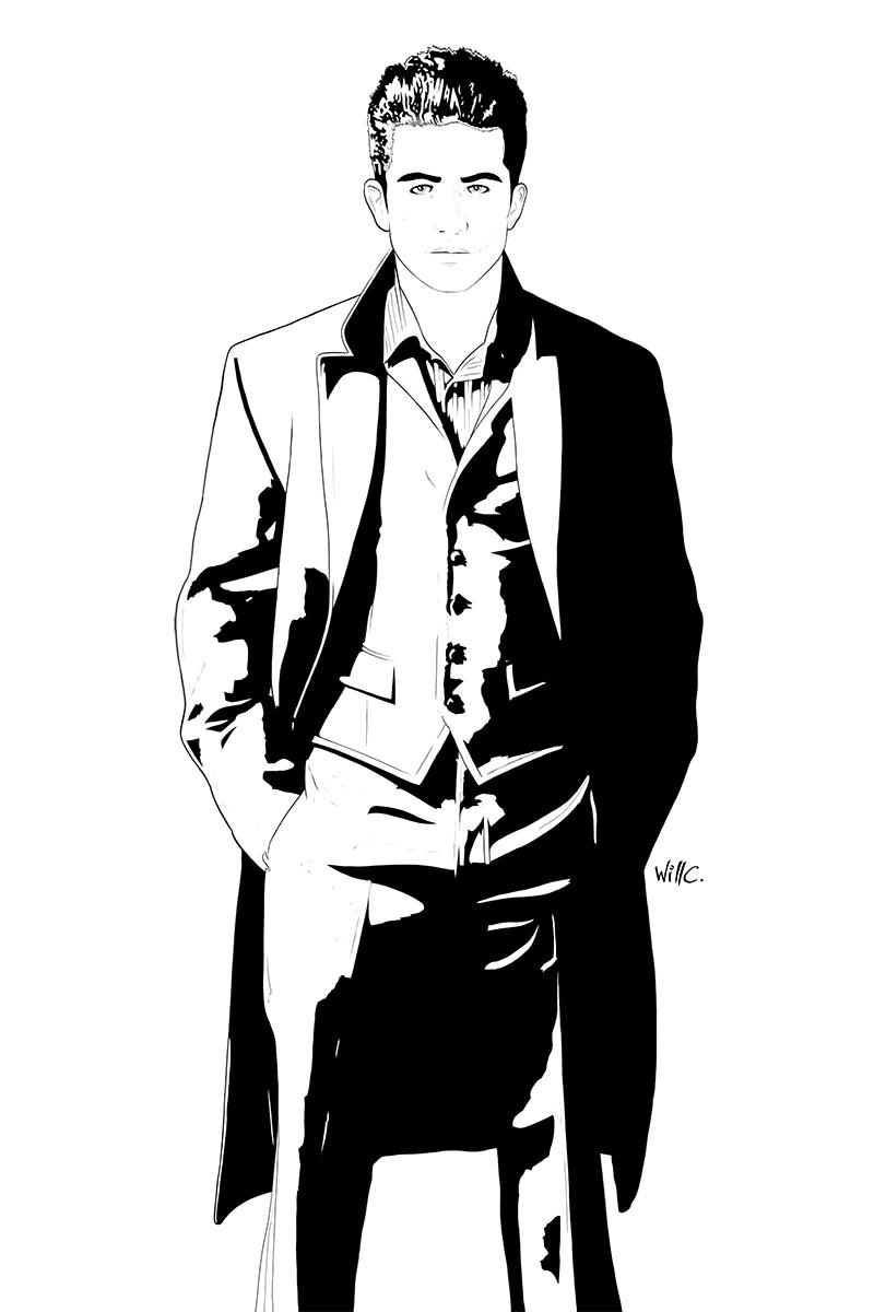 Ken Ishida pen and ink