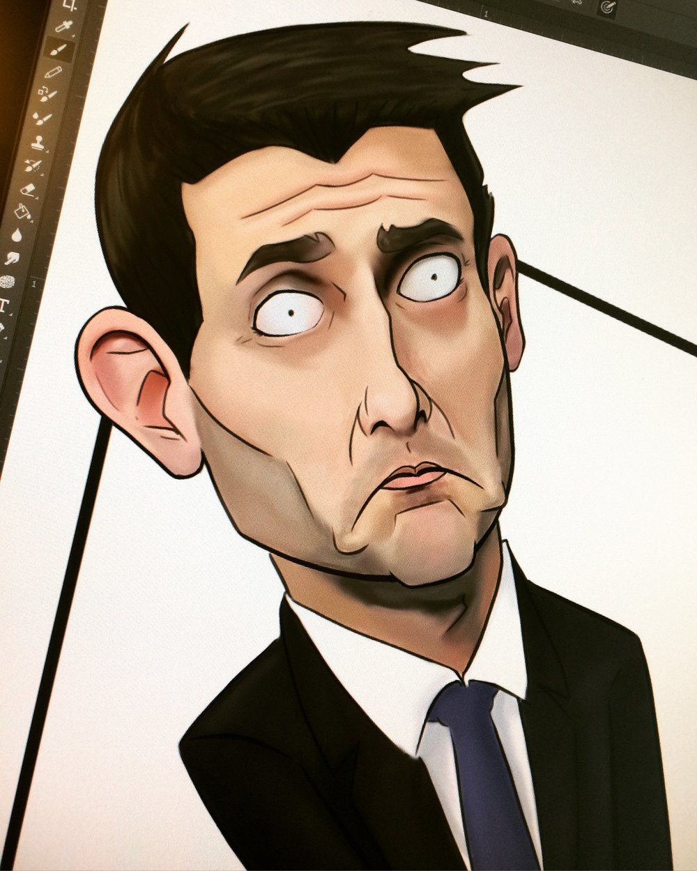 "Working on Speaker of the House Paul Ryan for the panel ""No More Politics."""