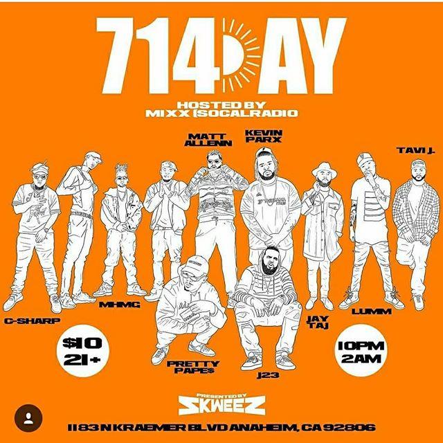 #714day🍊🤙🏽 This Saturday 🔥🔥🔥🔥#SevenOneFour #OrangeCounty #Juicecounty  #LitfestUniversity ♨️