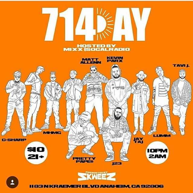 #714day🍊🤙🏽 This Saturday 🔥🔥🔥🔥#SevenOneFour #OrangeCounty #Juicecounty  #LitfestUniversity ♨️