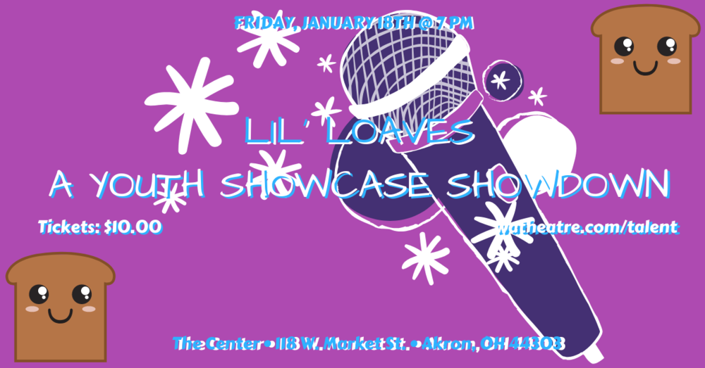 Microphone Illustration Purple Talent Show Flyer.png