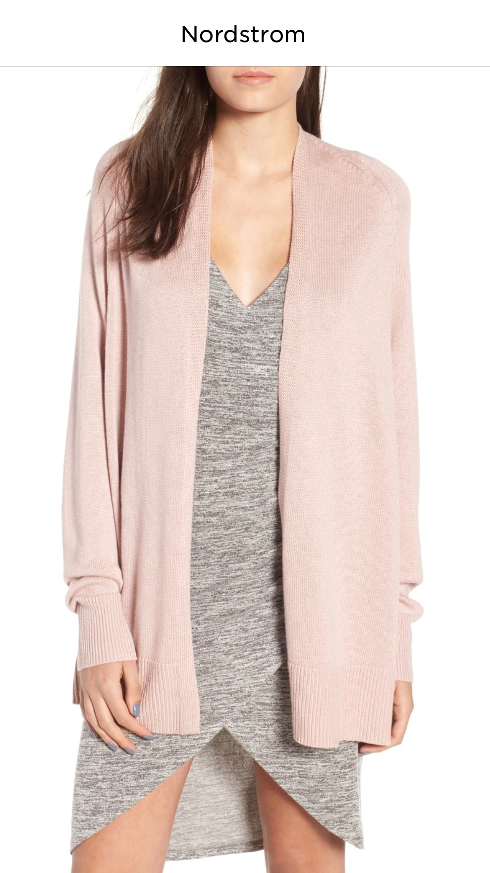 Leith Boxy Cardigan   PINK ADOBE, Small  $43.90