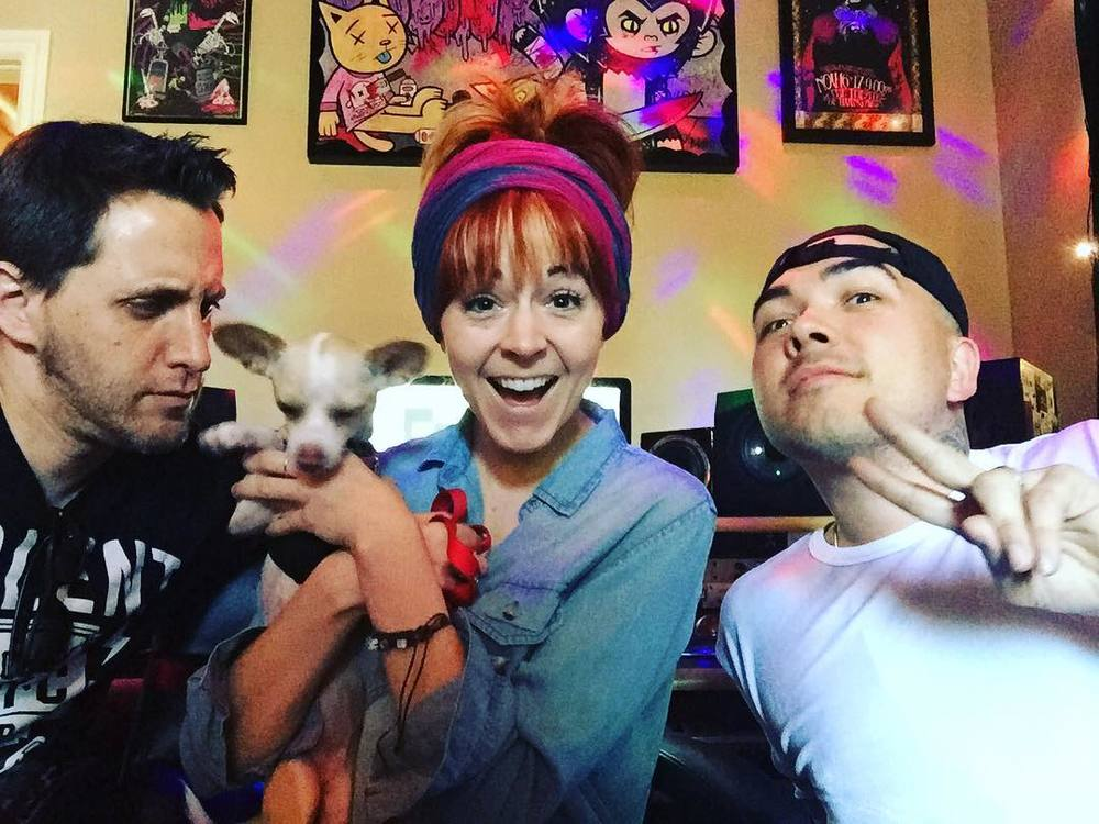 In the studio working with YouTube Sensation Lindsey Stirling and Jason T. Miller..