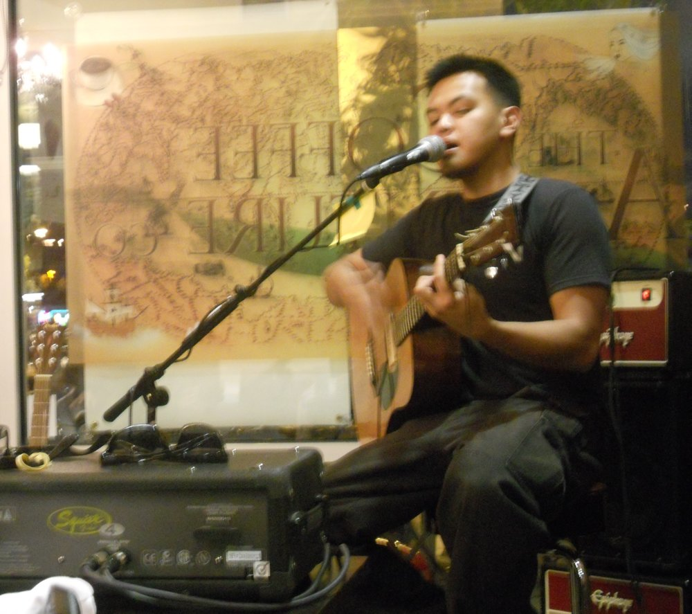 Performing at a coffee shop