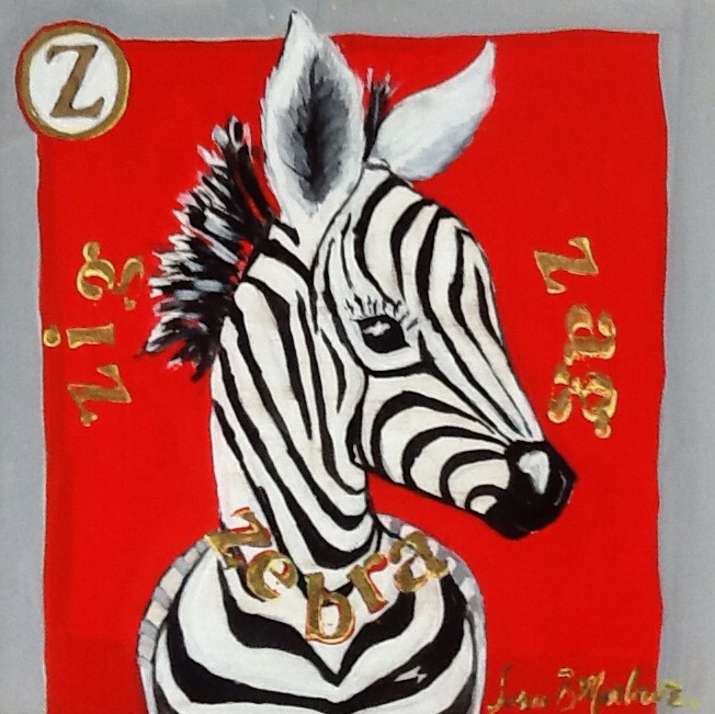Z is for Zig Zag Zebra