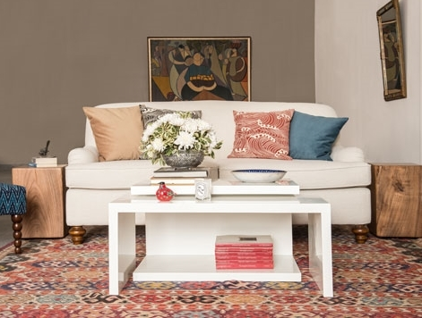 bohemian living with ionian velvet cushions