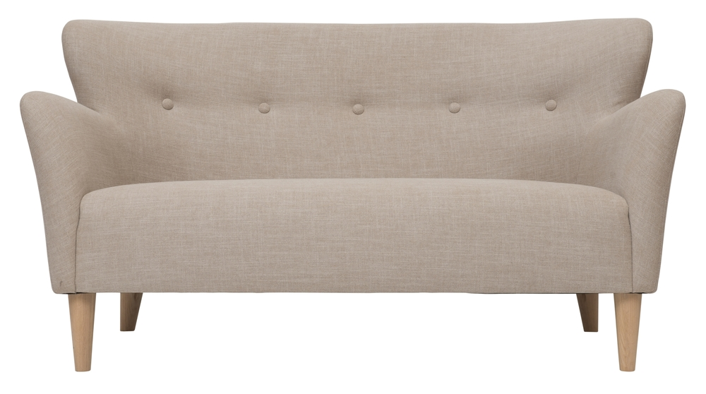 Large peggy sofa in skin beige