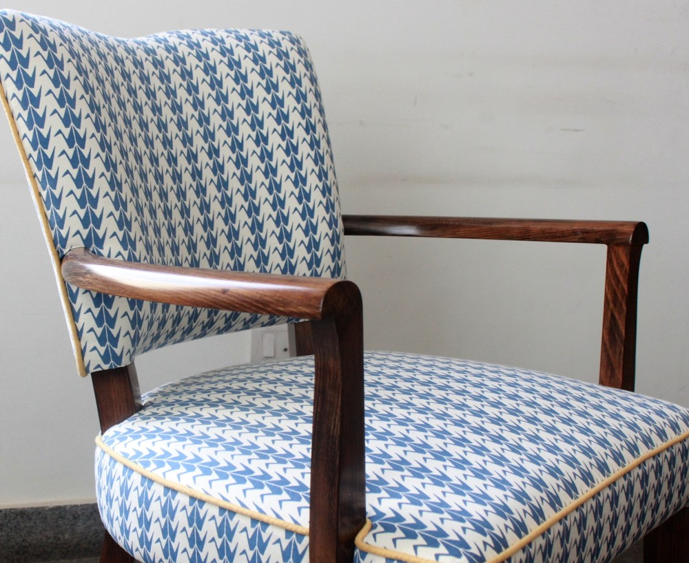 blue cran shimla chair