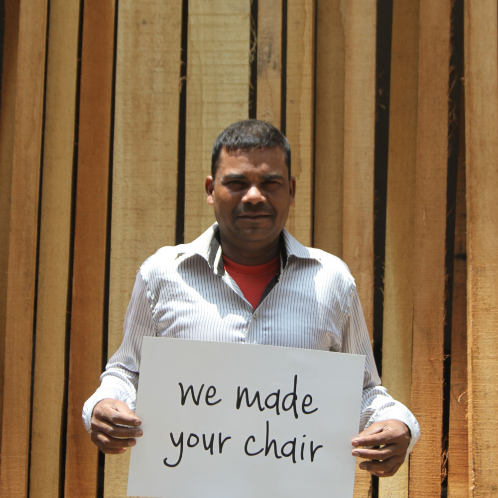 We made your chair