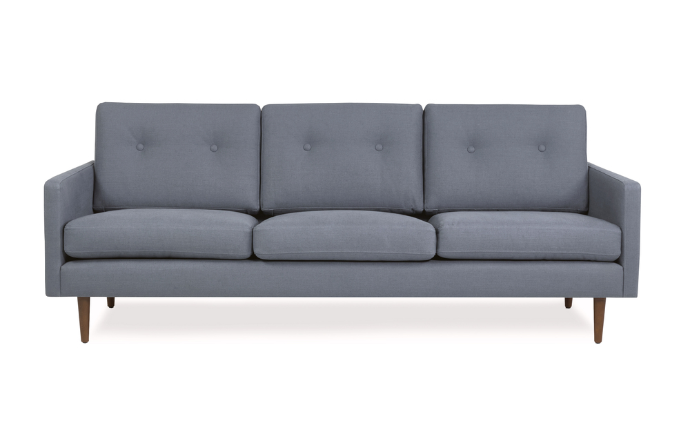 Midcentury Modern dark blue 3 seater sofa