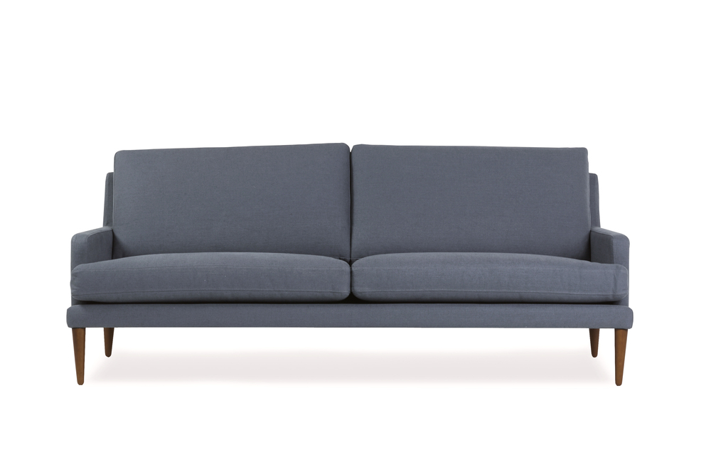 Brooklyn 3 seater sofa in dark blue granite