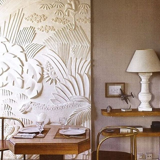 Lusting after that panel #IRDesignInspo #art .Image via #WorldofInteriors #RolandBeaufre