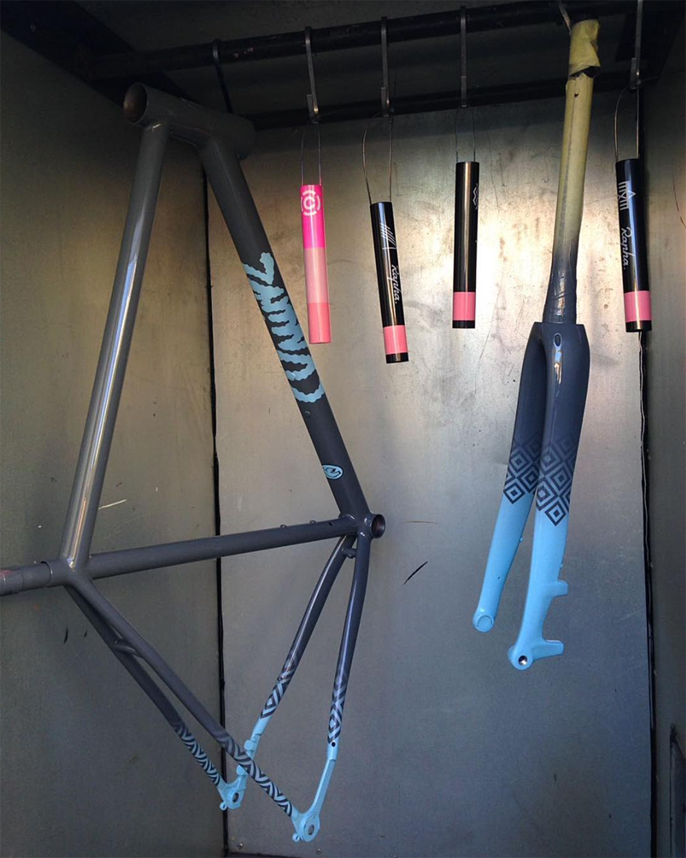 Quirk Cycles Spray Booth