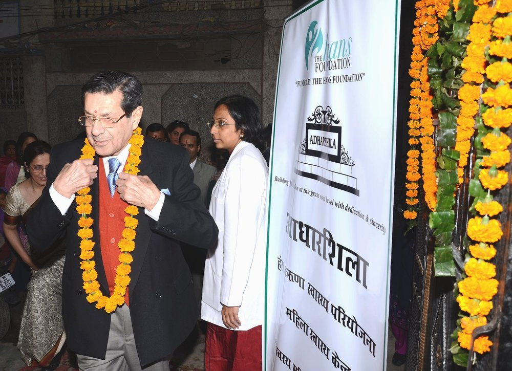 Dr. R. P. Soonawala, MD, FRCS, FRCOG,FICOG inaugurating the  Women Health Centre at Harkesh Nagar, 2012(2).jpg