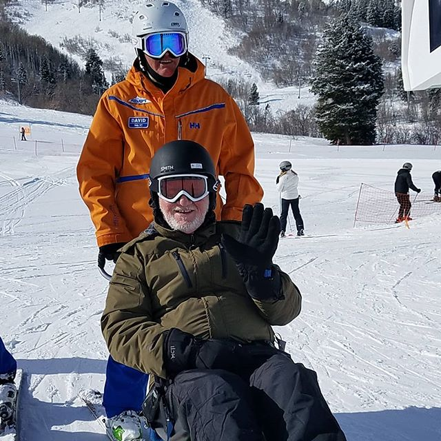 Jack got to ski with his grandkids today ❤