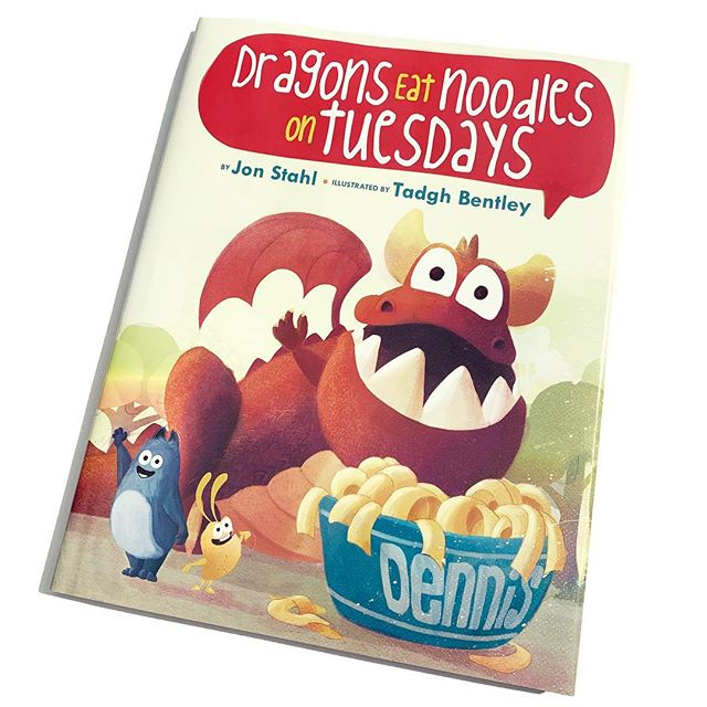 My newest #picturebook, 'Dragons Eat Noodles on Tuesdays', written by the fabulous Jon Stahl, will be roaring out of bookstores on March 26th. Yey! Will share more of the artwork over the next weeks #dragons #noodles