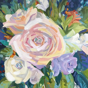 CUSTOMBRIDALBOUQUET PAINTINGS -