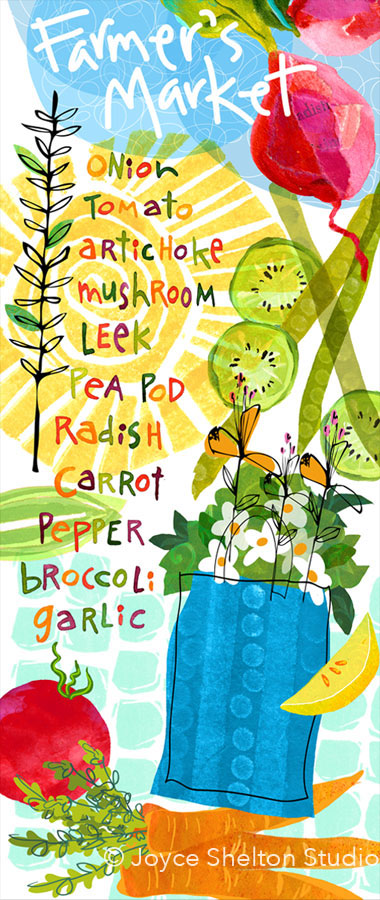 Farmer's Market Illustration ©Joyce Shelton