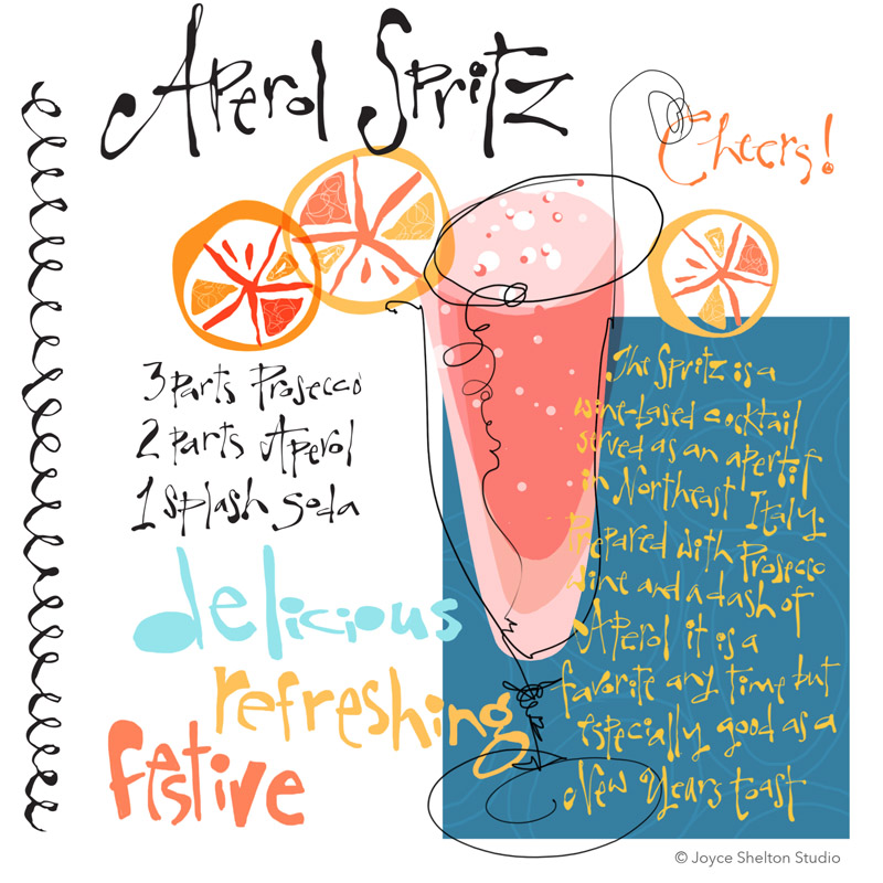 Aperol Spritz Illustrated Recipe ©joyceshelton