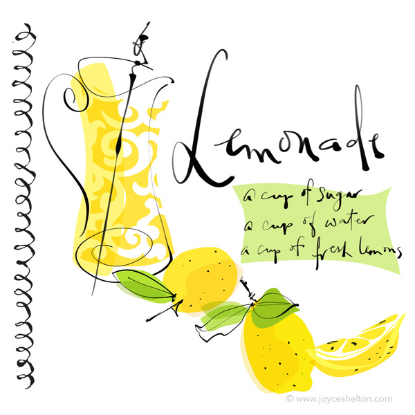 Lemonade Illustrated Recipe ©Joyce Shelton