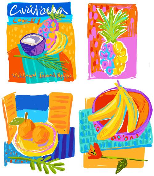 Caribbean Cookbook Spot Illustrations ©Joyce Shelton