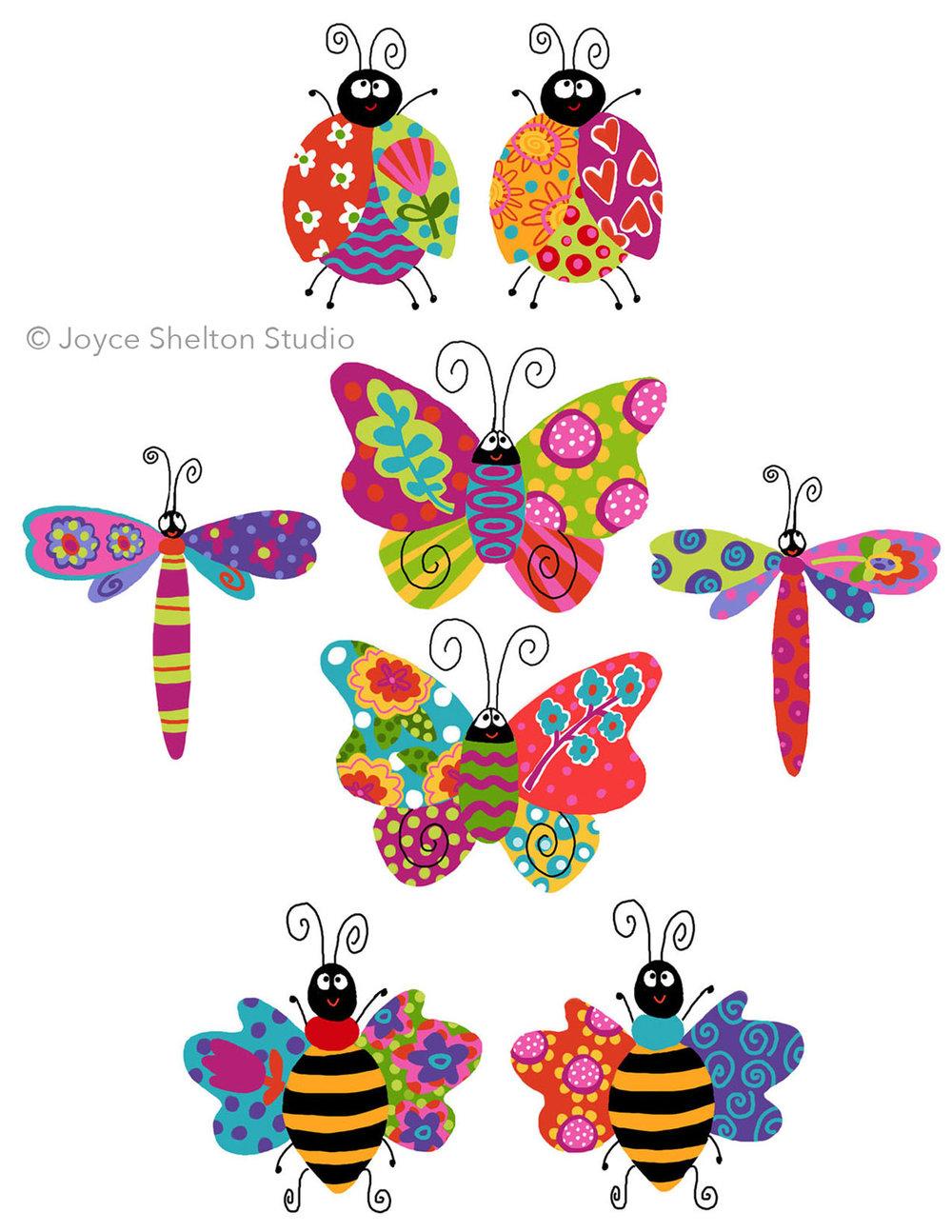 Colorful Bugs ©Joyce Shelton