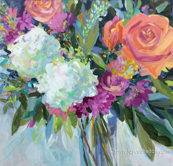 Nada's Bouquet • 24 X 24 Acrylic On Canvas • SOLD