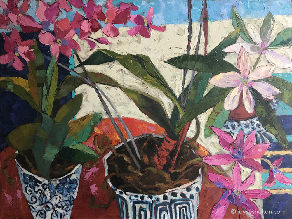 Orchids • 30X40 Oil On Canvas • $500.00