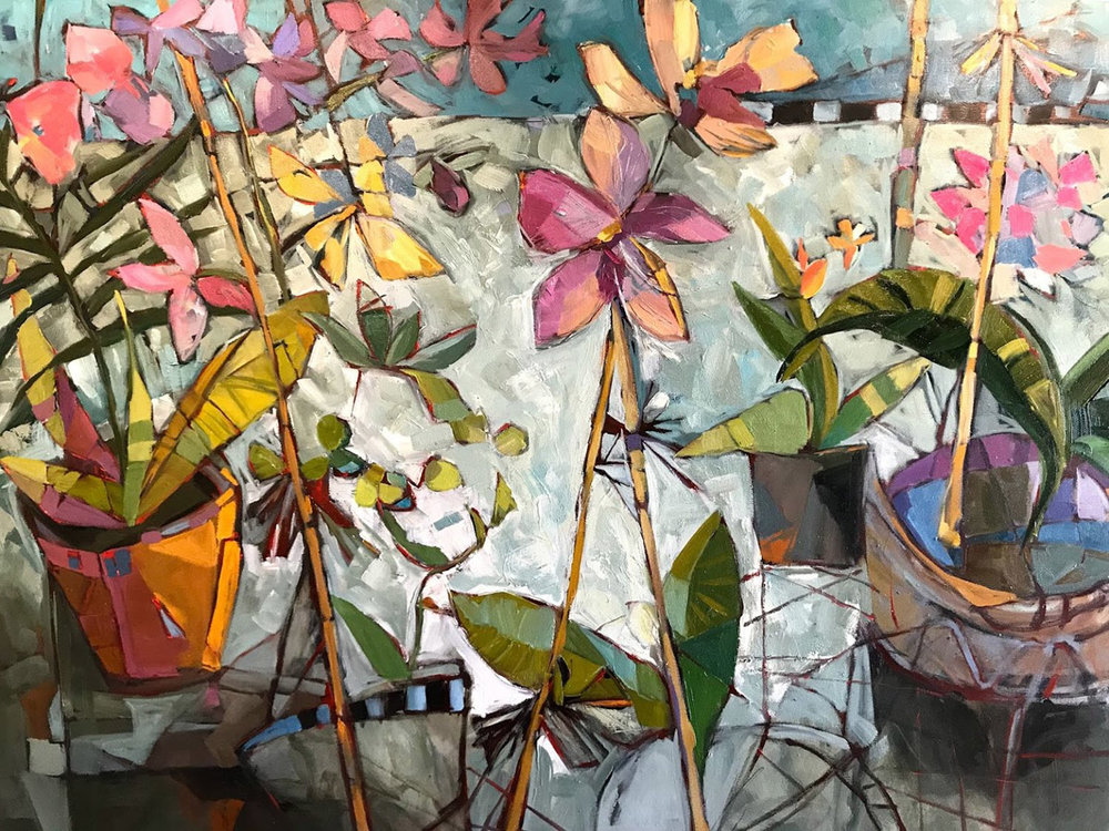 Orchid Table • 30 X 40 Acrylic • Please Contact