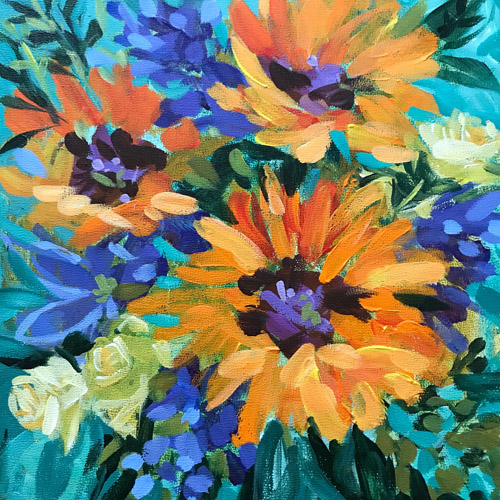 SOLD!  30/30 Day 14 • 8X8X3/8 Acrylic On Art Panel