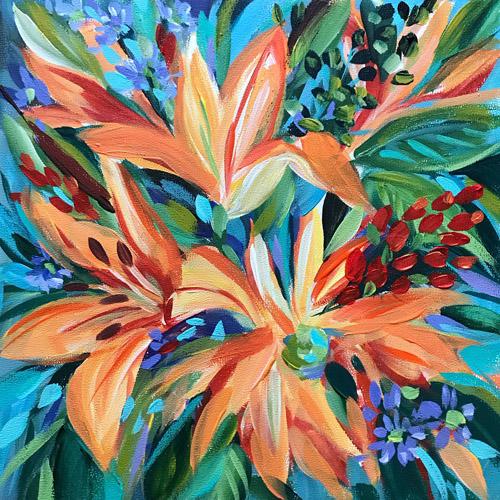 SOLD • Day 29 • 8X8X3/8 Acrylic On Art Panel