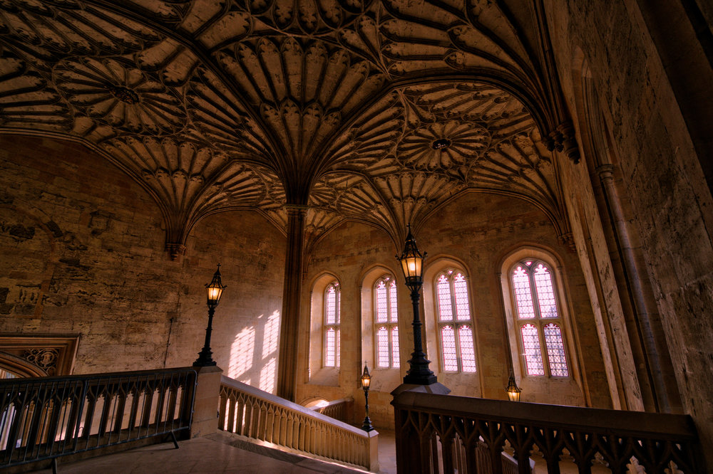 This is the staircase where a young Draco Malfoy & Harry Potter first meet!