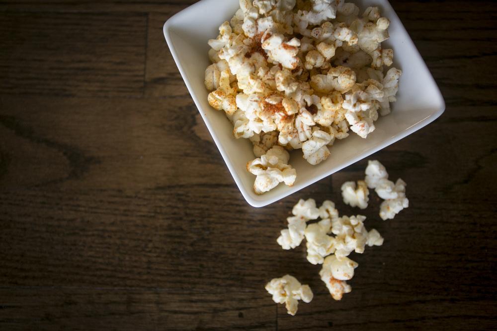 Sriracha spiced popcorn