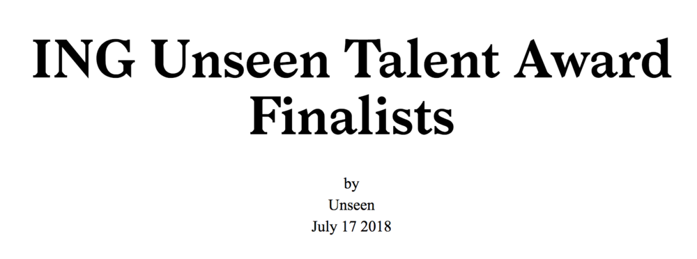Eva O'Leary: ING Unseen Talent Award Finalist  - July 17, 2018