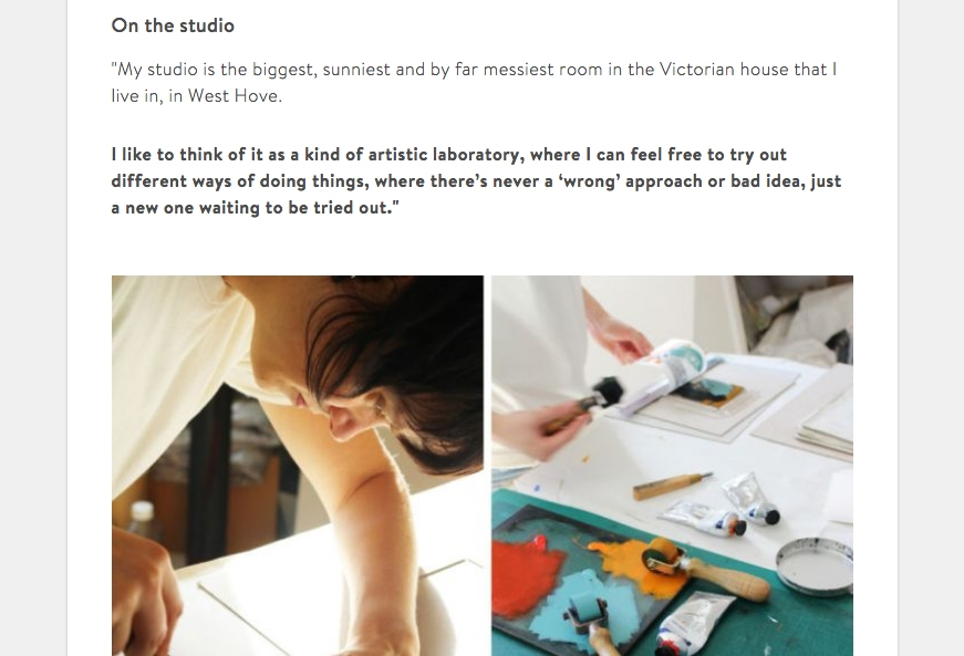 Artfinder blog interview -