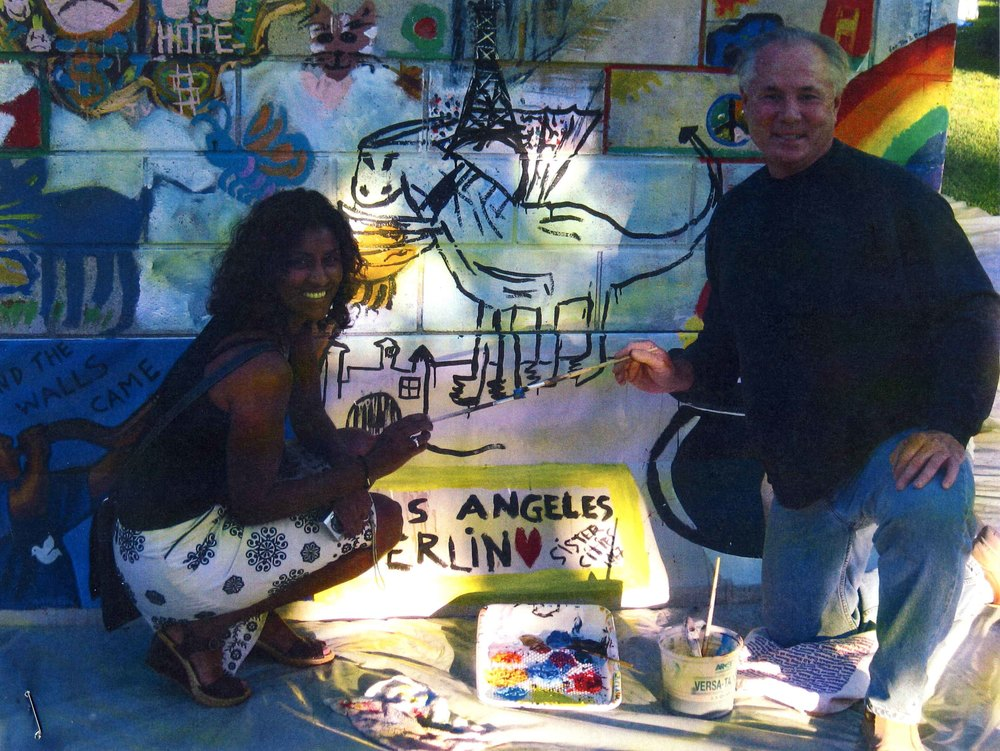 Director of Arts and Culture, City of Los Angeles, Kamilla Blanche and Councilmember of the 4th District, Tom LaBonge