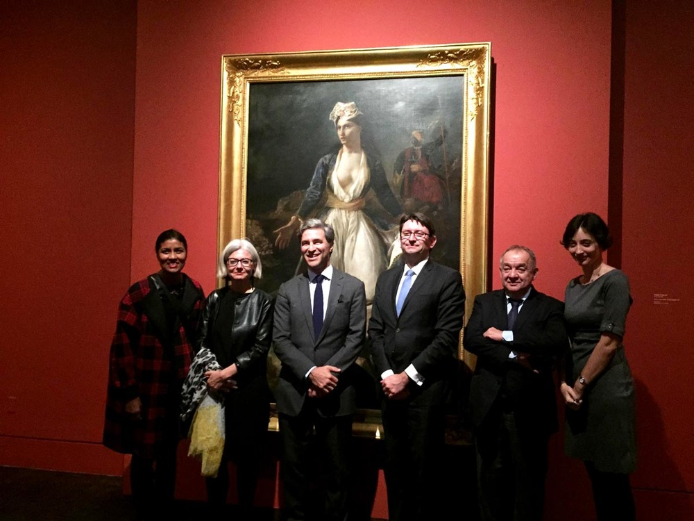 Kamilla, Sophie Barthélémy, Director of the Musée des Beaux-Arts in Bordeaux, Michael Govan, Director of LACMA, Axel Cruau, Consul General of France