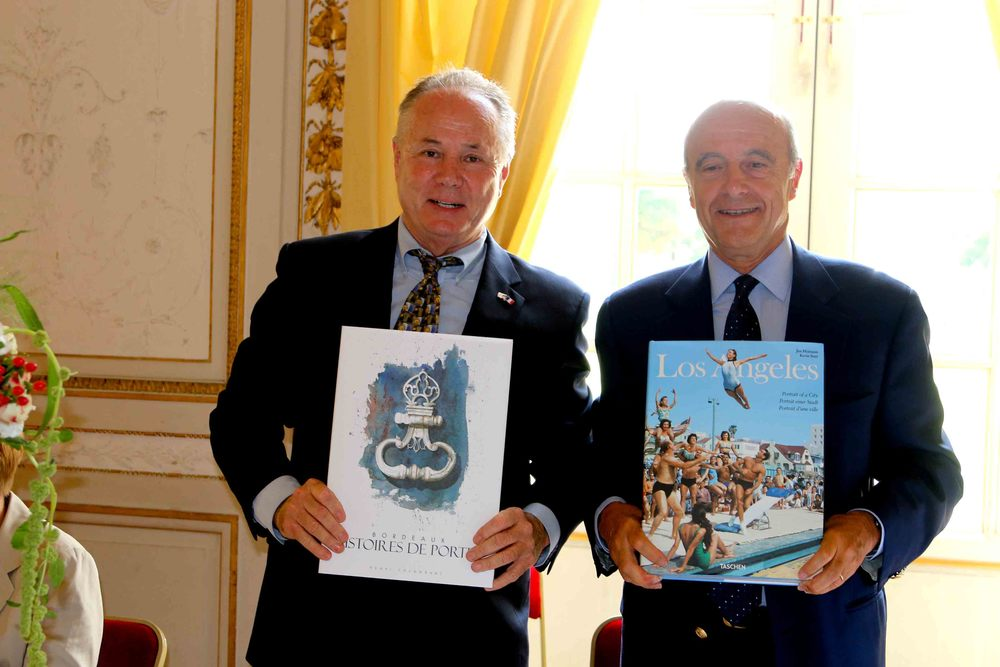 Councilmember Tom LaBonge and Mayor of Bordeaux, Alain Juppé