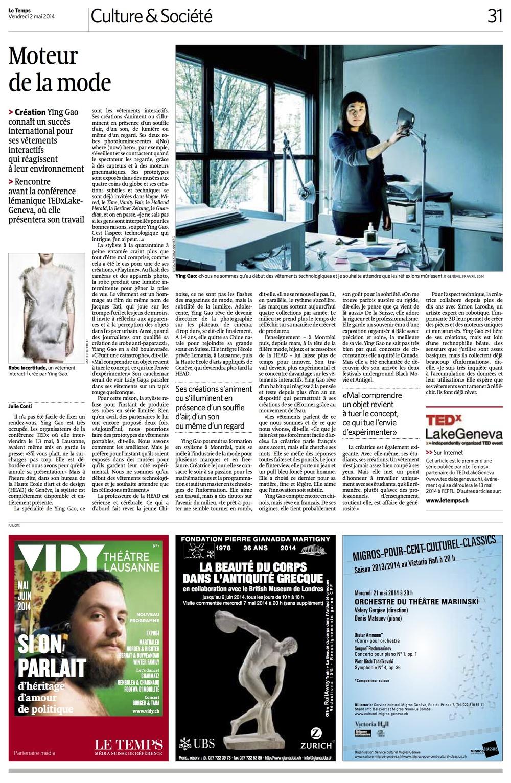 Le Temps 02 mai 2014.jpg