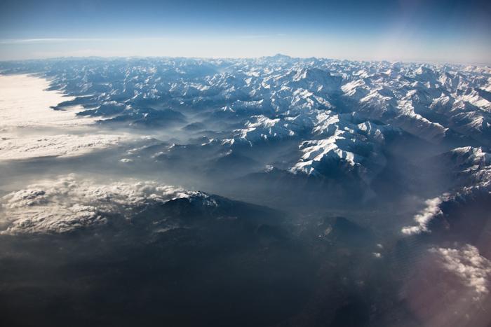 Au dessus des Alpes