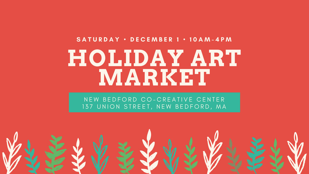 Holiday Art Market - Saturday, December 1st from 10am-4pm137 Union Street, New Bedford, MAWe're going back to our Craft-O-Rama roots and having a Holiday Art Market at New Bedford's Co-Creative Center.Lots of vendors selling handcrafted goods- jewelry, painting, tea and herbal products, prints, soap, natural skincare, stationary, baby products, plants, scarves, DIY bracelet bar and more!Our event will also run during the New Bedford Holiday Stroll, so you plan a day full of cute holiday shopping, eating, and fun. Support your local artists and community and come on down and get your shop on!Click HERE to RSVP on Facebook!Click HERE for details and our vendor applicationGot questions? Email us at hello@shopathippo.com