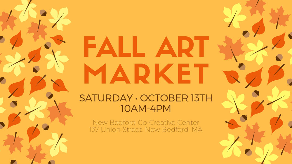 Fall Art Market - Saturday, October 13th from 10am-4pm137 Union Street, New Bedford, MAJoin us for our first Fall Art Market at New Bedford's Co-Creative Center.Lots of vendors selling handcrafted goods- jewelry, painting, pottery, prints, stationary, baby gifts, handbags, a paint your own mini-pumpkin station and more!This event is perfect for folks looking to get an early start on their holiday shopping! Support your local artists and community, come on down and get your shop on.Click HERE to RSVP on Facebook!FULL LIST OF VENDORS HEREGot questions? Email us at hello@shopathippo.com