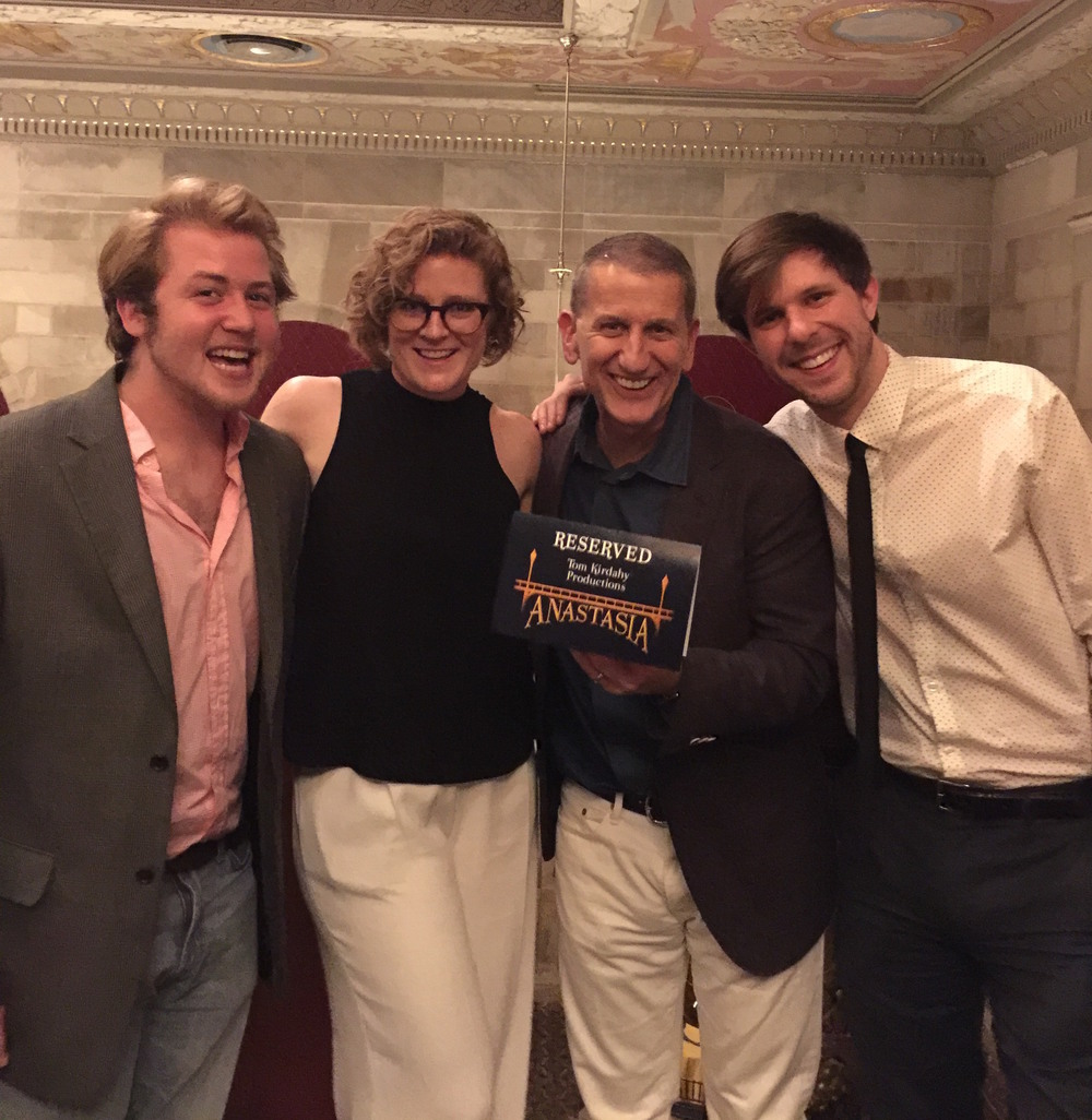 Alex Crawford, Sally Cade, Tom Kirdahy & Logan Reed at Anastasia opening night in Hartford, CT.